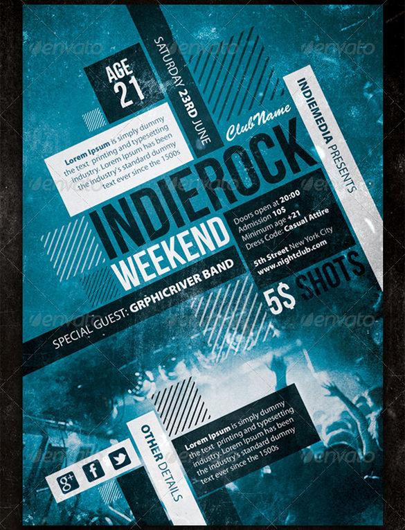 indie rock vintage concert poster 6