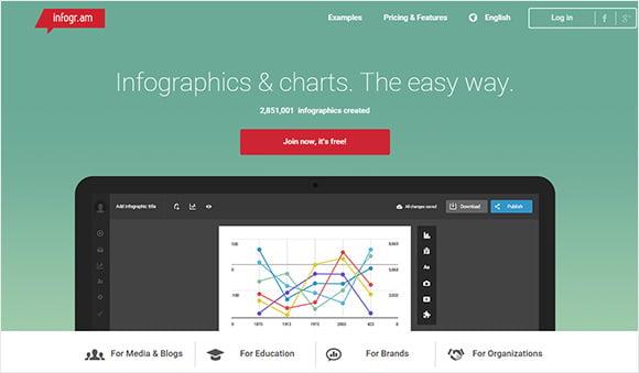 infogr online web design tool