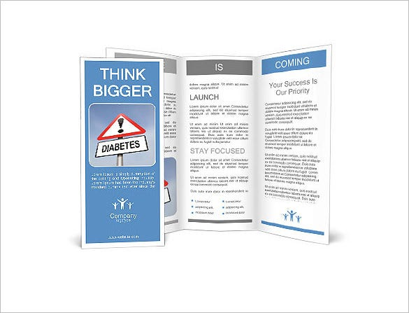 8 helpful diabetes brochure templates psd vector eps for Informational brochure templates free