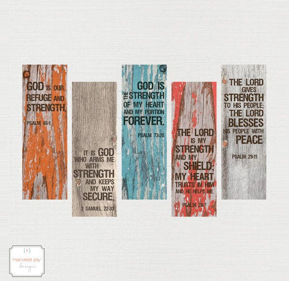 inspirational printable christian bookmarks