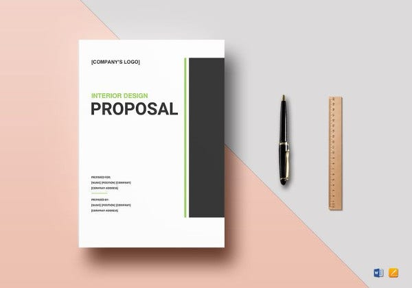 interior design proposal word template