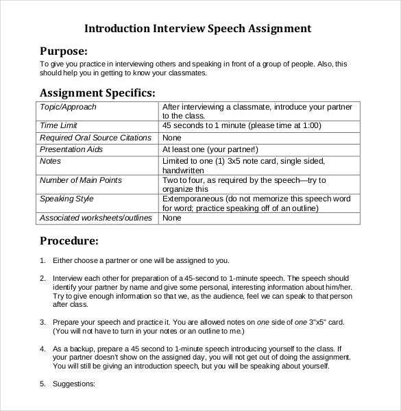 interview-speech-outline