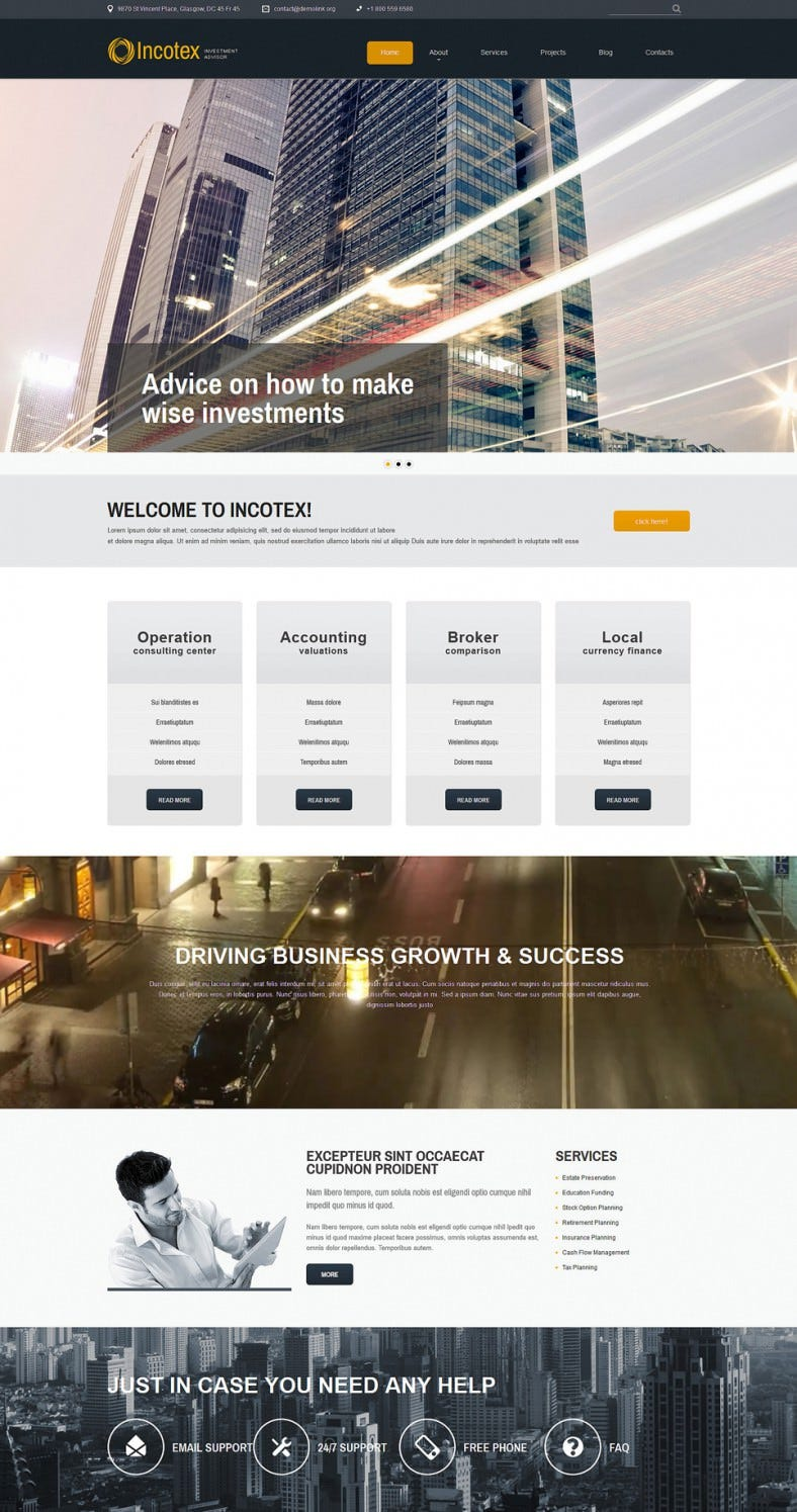 investment consultancy joomla template 788x1495