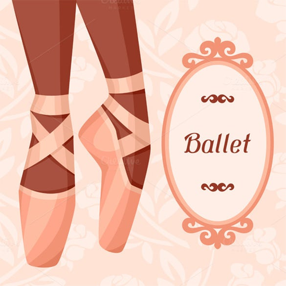 invitation cards to event ballet show