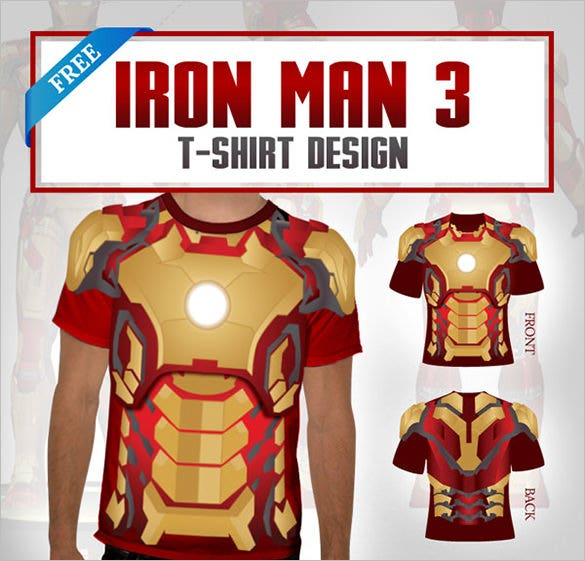 iron man t shirt template psd