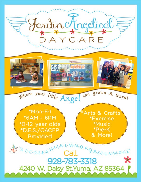 Child Care Flyers Examples Insssrenterprisesco - Child care brochure templates free