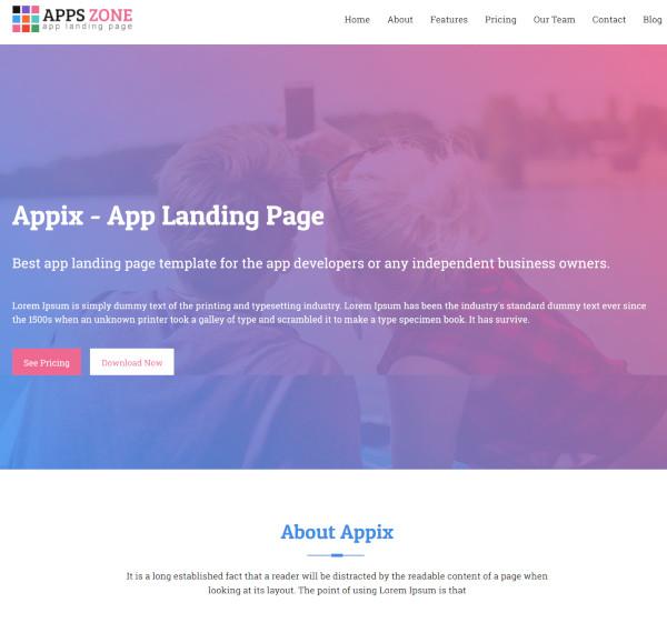 jekyll multipurpose app landing page