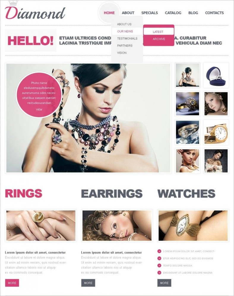 jewelry joomla template 788x996
