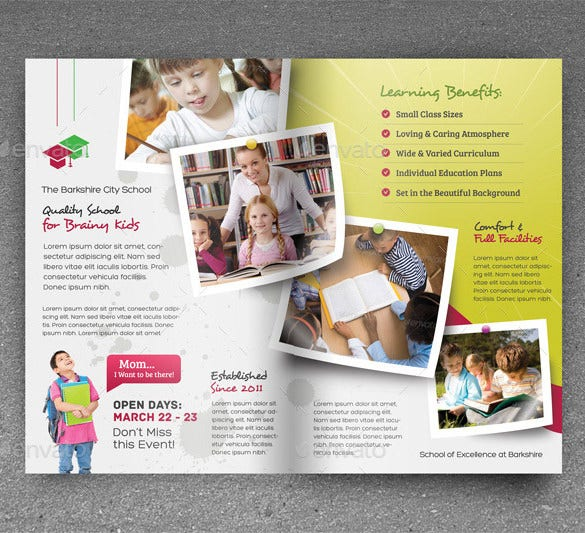 junior school promotion bundle flyer design