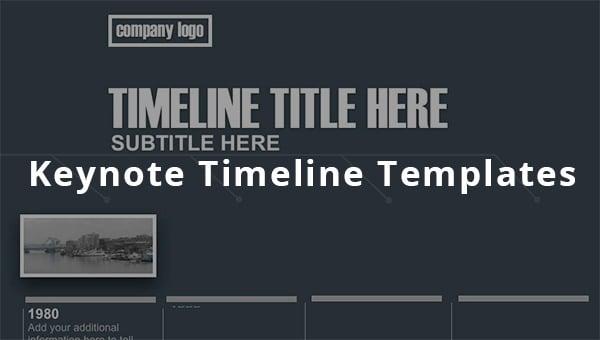 keynote timeline templates