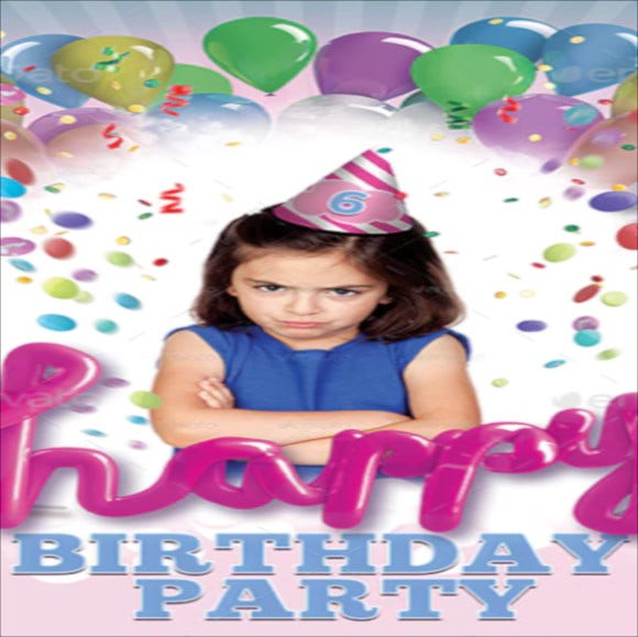 kids birthday party flyer template1