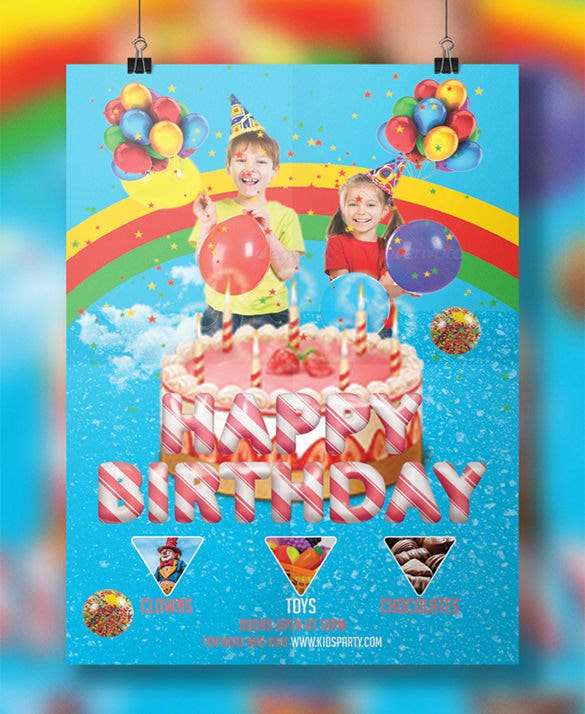 kids explosion birthday party personalized flyer