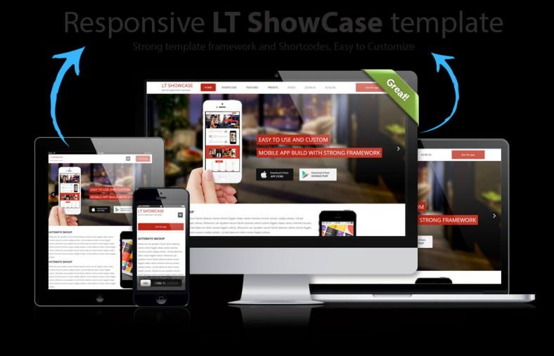 lt app showcase joomla template 788x507