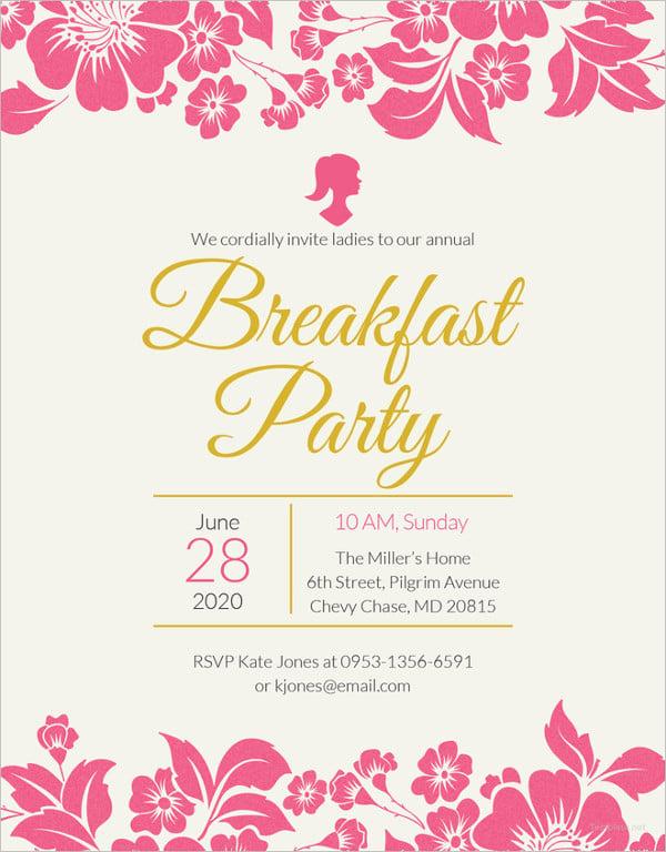 33  wonderful breakfast invitation templates