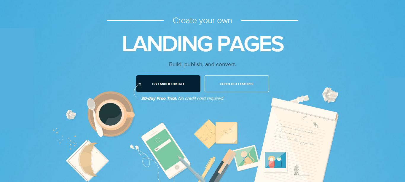 Lander Landing Page Online Builder