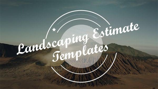 landscpaingestimatetemplates