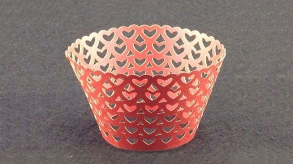 laser cut cupcake wrapper