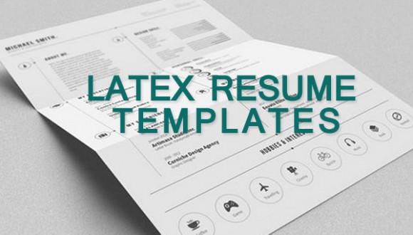 15  latex resume templates