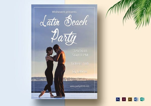 latin-nights-beach-flyer-template