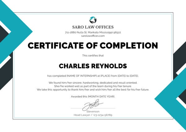 law-internship-certificate-template