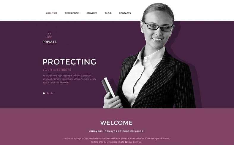 Lazy Load Effect Drupal Template for Law Office