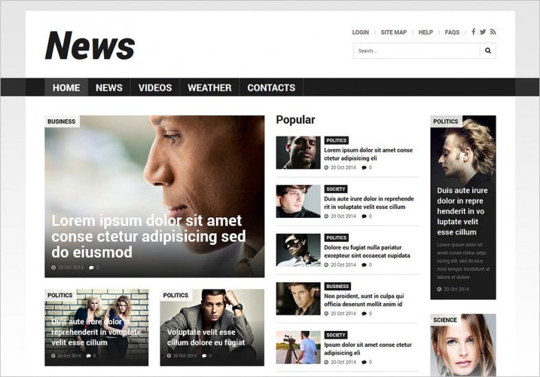 Lazy Load Effects Joomla Template for News Portal