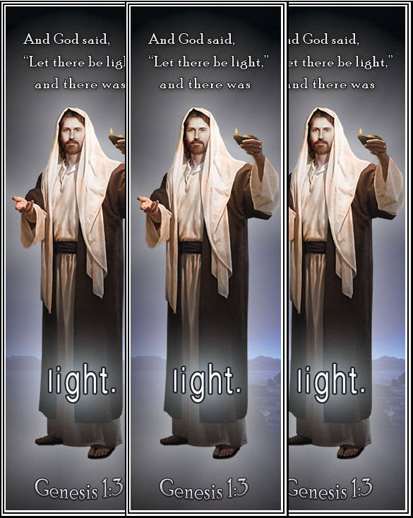 light christian bookmak template for print