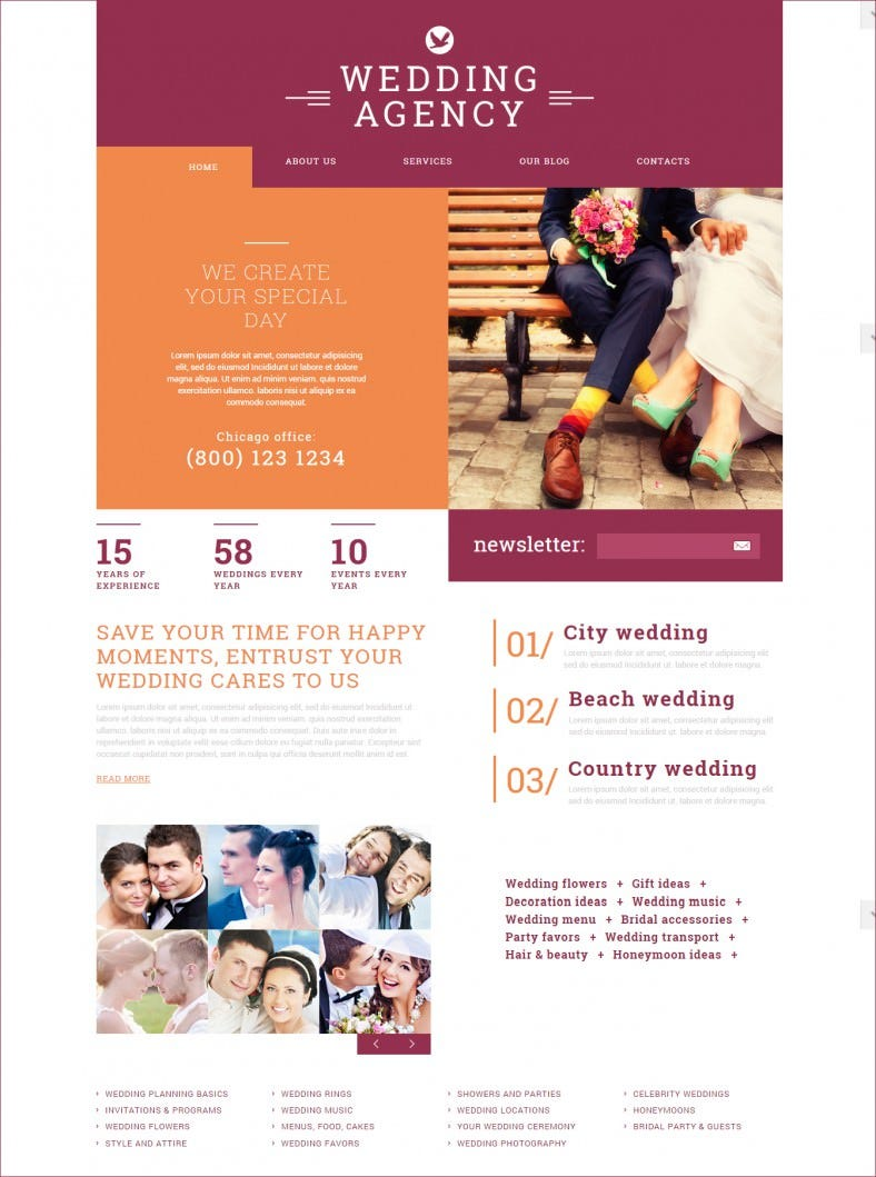 Light & Dark Joomla Theme for Wedding Agency