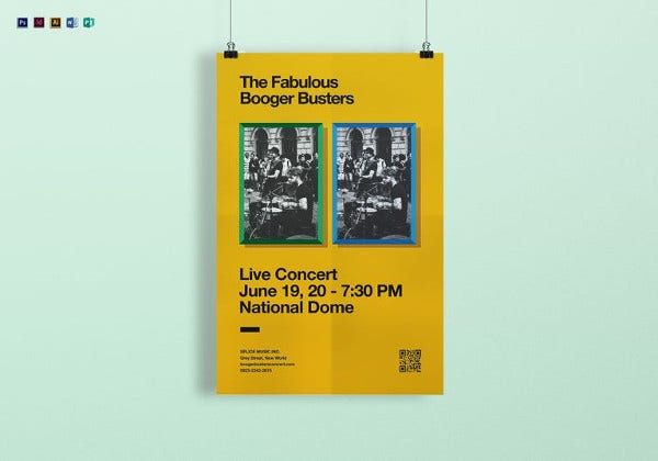 live concert poster template in word format