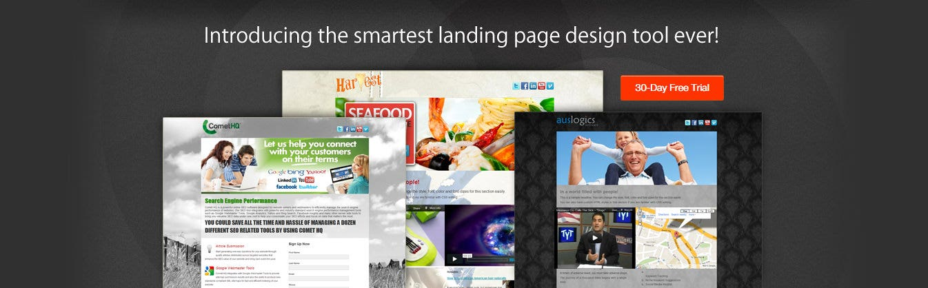 live pages landing builder