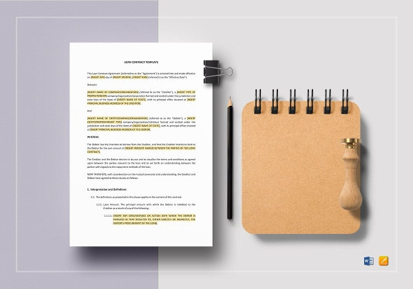 loan contract template2