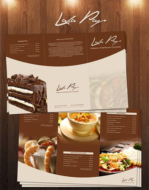 lola pop restaurant cafe menu