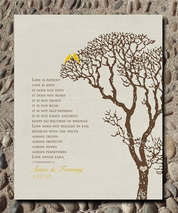 love birds in family tree art template 20