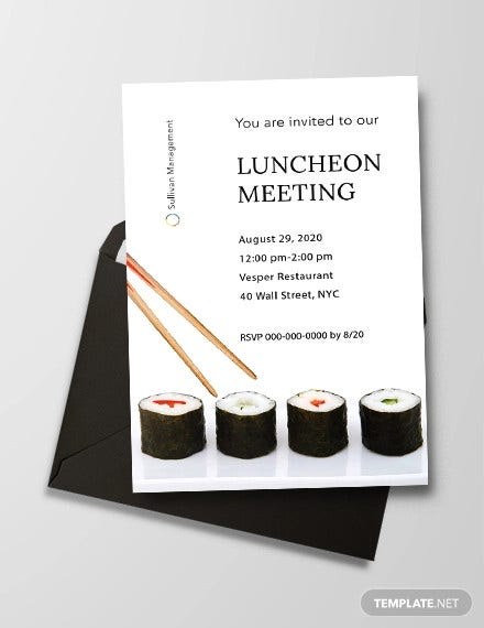 luncheon meeting invitation template1