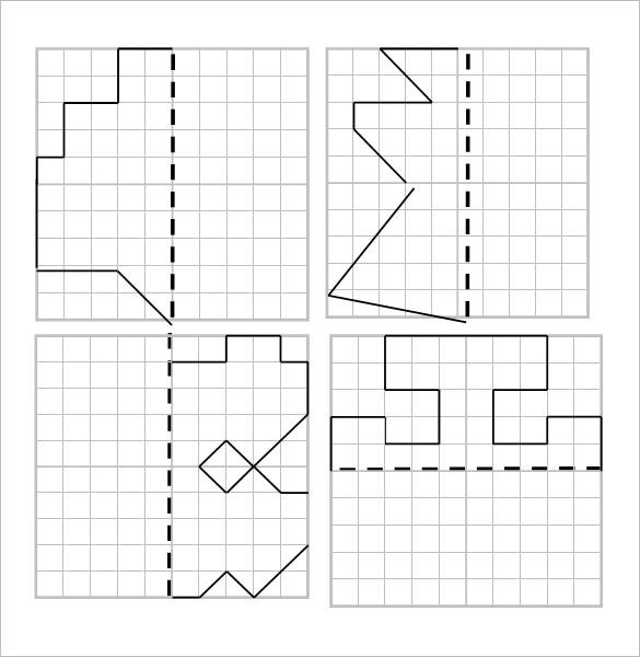 Drawing Lines Of Reflection : Reflective symmetry worksheet templates free word