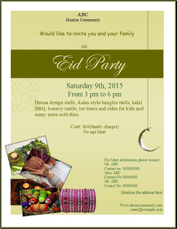 ms publisher eid party flyer template