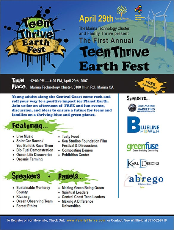 ms publisher flyer teen thrive
