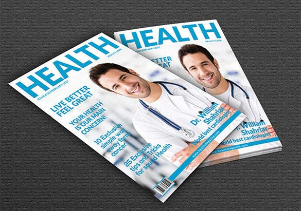 magazine cover psd template for health