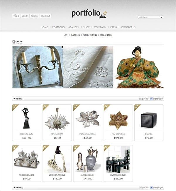 magento art photography theme