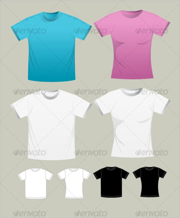 man and woman t shirt template psd