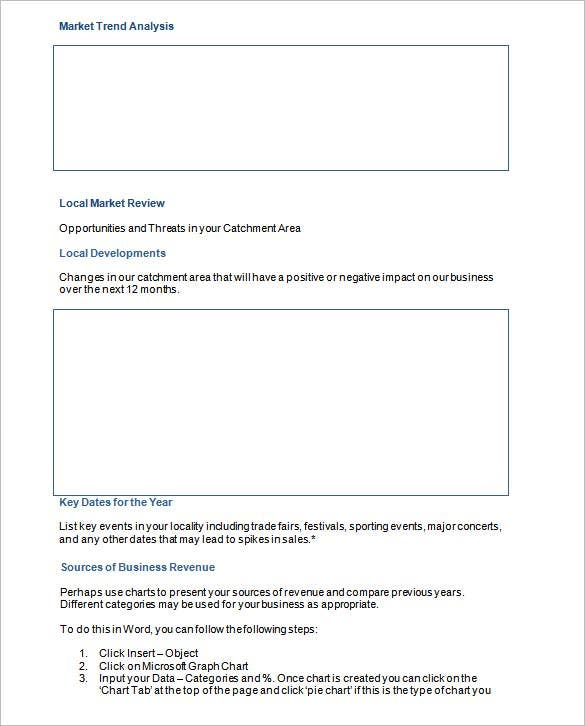 marketing analysis action plan templates word format