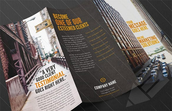 marketing tri fold brochure design