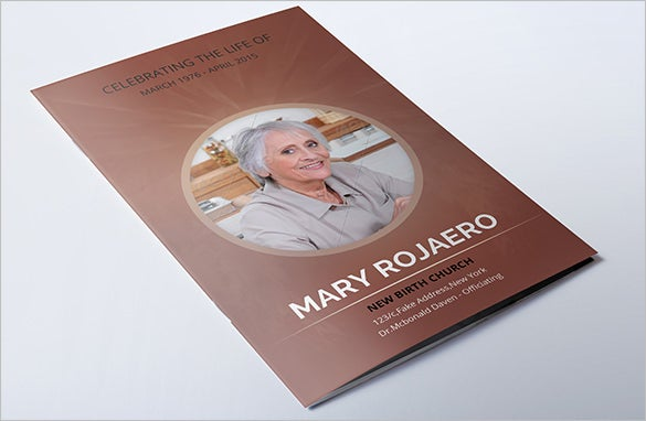 mary funeral program brochure