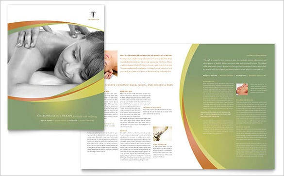 massage chiropractic brochure template for 99