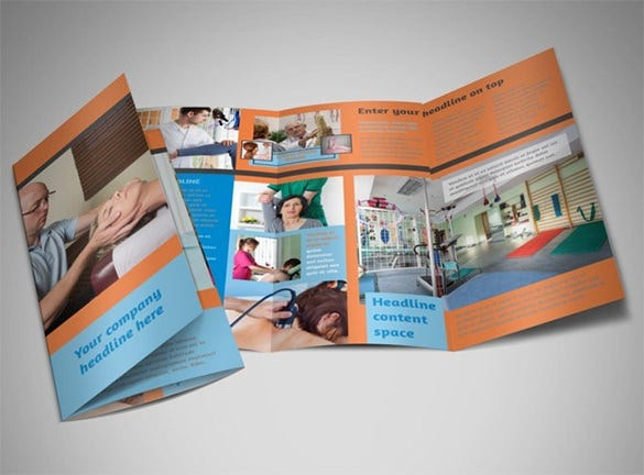 massage chiropractic office a4 tri fold brochure template