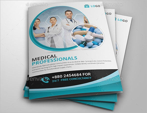 medical bi fold brochure template 8