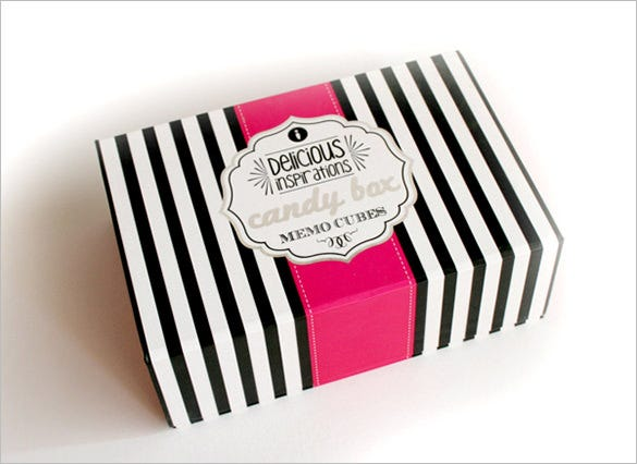 memo cubes candy box template