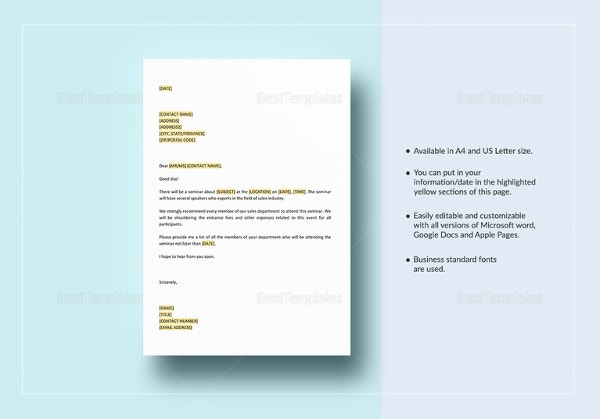 memorandum-on-sales-seminar-template