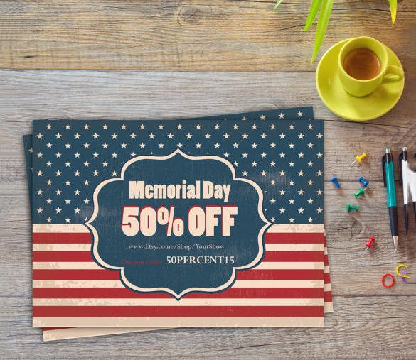 memorial day flyer template 8