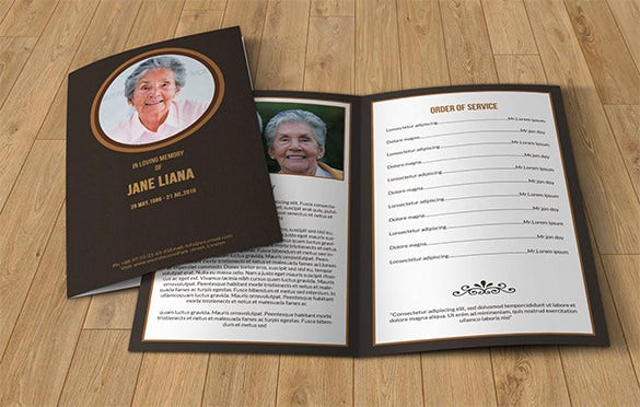 Memorial Funeral Event Template  Free Printable Funeral Programs Templates